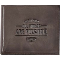 With God All Things Are Possible Matthew 19:26 (Wallet) (Leather / fine binding):