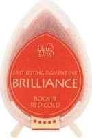 Tsukineko Brilliance Dew Drop Ink Pad - Rocket Red Gold: