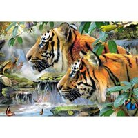 Jumbo Tigers From Bengal Jigsaw Puzzle (1500 Piece):