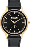 Nixon Ladies Sala Leather Analog Watch (Gold & Black):