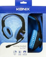 Konix Over-Ear Gaming Headphones with Microphone for PS4 (Black and Blue):