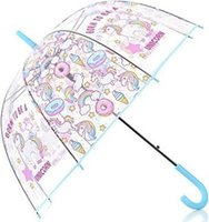 Clear Unicorn Umbrella (Blue):