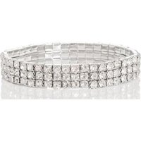 Quiz Women Diamante Bracelet (Silver):
