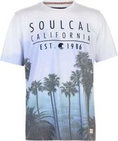 SoulCal Mens Sublime T-Shirt (Blue and Purple):