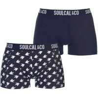 SoulCal Mens Trunks (Peacoat and Bird AOP)(Pack of 2):