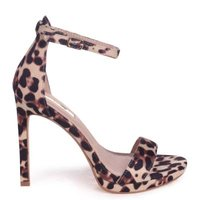 Linzi Ladies GABRIELLA Barely There Stiletto Heel With Slight Platform - Natural Leopard: