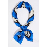 Quiz Ladies Leopard Print Neck Scarf - Royal Blue: