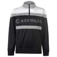 Airwalk Mens Quarter Zip Track Jacket (Black and White) [Parallel Import]: