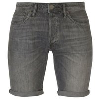 Jack & Jones Mens Jeans Intelligence Rick Denim Shorts (Grey) [Parallel Import]: