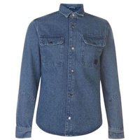 Jack & Jones Mens Champ Long Sleeve Worker Shirt (Light Blue) [Parallel Import]:
