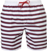 kangol Mens Swim Shorts  - Stripe Red [Parallel Import]: