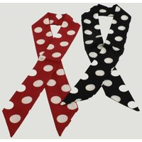 Red & Navy Polka Neckerchief: