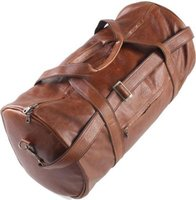 King Kong Leather Polo Duffel Bag (Pecan):