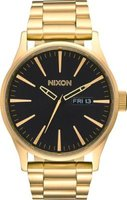 Nixon Men's Sentry SS Analog Watch (Gold & Black):