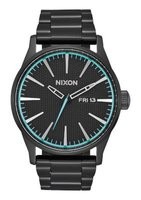 Nixon Gents Sentry SS Analogue Watch (Black & Blue):