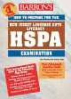 Barron's How to Prepare for the New Jersey HSPA in Laguage Arts Literacy (Paperback): Edie Weinthal, Patricia Hade