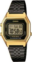 Casio Retro Digital Wrist Watch (Black and Gold):