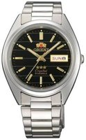 Orient 3 Star Automatic Black Dial Men Watch: