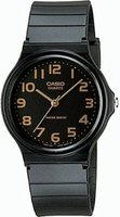 Casio Standard Analogue Wrist Watch (Black and Gold):