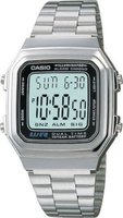 Casio Retro Digital Wrist Watch (Silver):