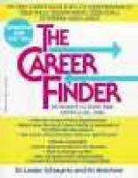 The career finder - pathways to over 1500 careers (Paperback, Updated ed): Lester Schwartz, Irv Brechner