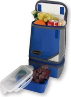 Leisurequip 2 Compartment Lunch Cooler (Blue):