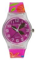 Cool Kids Funky Slim Analogue Flower Watch (Pink):