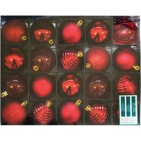 Red Decor Bauble Pack 60mm (Pack of 20):
