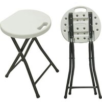 Bushtec HDPE Folding Stool (White):