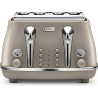 Delonghi Icona Elements 4 Slice Toaster (Desert Beige):