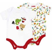 Fisher Price Body Suit Printed (Set of 2) - 0-3 Months: