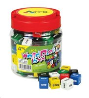 Teacher's First Choice Dice 6 Face Words 1-6 16mm Jar (100 Pieces):