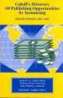 Cabell's Directory of Publishing Opportunities in Accounting - 2001-2002 (Paperback): David W. E. Cabell