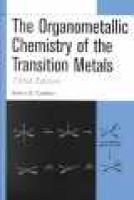 The Organometallic Chemistry of the Transition Metals (Hardcover, 3rd Revised edition): Robert H. Crabtree