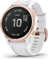 Garmin Fenix 6S Pro Smartwatch (Rose Gold with White Band):
