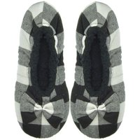 Snoozies® White Black Ballerina Plaid: