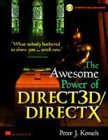 The Awesome Power of Direct 3D/Direct X (Paperback): Peter J. Kovach