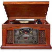 Crosley Lancaster Wooden Entertainment Center with Turntable: