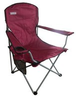 Bushtec Oversized Folding Chair (Red) (110kg):