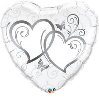 Heart Shaped Entwined Hearts - Silver (91 cm):