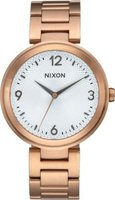 Nixon Ladies Chameleon Analog Watch (Rose Gold & Silver):