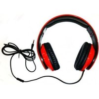 Proline ACCESSPRO BX-HS02 Foldable Wired Headset with Mic (Red and Black):