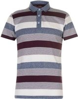 Pierre Cardin Mens Yarn Dye Jersey Polo Shirt (Burgundy, Denim and White):