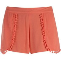 Golddigga Womens Layered Shorts (Coral):
