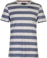 SoulCal Mens Stripe T-Shirt (White and Navy M):
