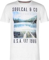 SoulCal Mens Photo T-Shirt (White Slub):