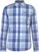 SoulCal Mens Long Sleeve Check Shirt (Blue, White and Red):