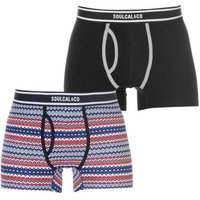 SoulCal Mens Pattern Boxers (Red)(Pack of 2):
