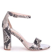 Linzi Ladies NELLY Single Sole Block Heel - NatSnake: