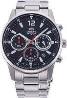 Orient Chronograph Black Dial Men Watch: